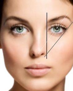 Esta es un guía para que puedas perfilar tus cejas correctamente, solo debes medir tus cejas como lo muestra la imagen...super fácil!