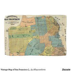 San Francisco Antique Map Of San Francisco Bay Area MAP - Vintage sf map