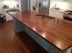 Reclaimed lumber walnut counter top. #reclaimedlumber #barnwood www.eaglereclaimedlumber.com