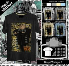 Minions Tshirt | Despicable me | Rare | Black Vintage Tee | Kids Tshirt | Custom Tshirt | Men Women Tshirt | Gift | Soft Cotton Combed (Bio Polished) – Gramasi 190-200 gsm. Chain Stitch & Inner Strips. Cotton Spandex Rib. Unisex Model with Bodyfit Style. Original Chemica Rubber. Improved TX Superwhite. Export Quality.   More than 6000 design. Promo Price $19.99 For Tshirt, Kids Tshirt, Raglan. Normal Price $24.99 Size XL-XXXL + $1.00 Shipping Fee $12.50 with Tracking Number.
