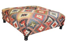 Amelia Kilim Upholstered Storage Ottoman on OneKingsLane.com