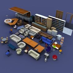 Detailed corporate furniture pack