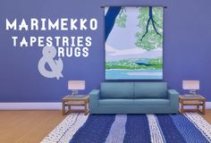 Marimekko Tapestries & RugsAnother upload that is the result of lovely content made by someone else that I absolutely overuse in my game and desperately needed more swatches for! These bright...