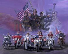 Heroes - Michael Knepper   Motorcycle Art