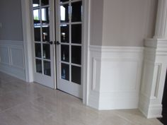 A look at the new wainscoting throughout the main floor...attention to detail is the name of the game.