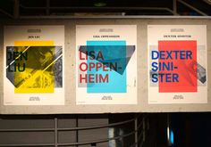 Jen, Lisa, Dexter - Lecture Poster Series by Christian Cox