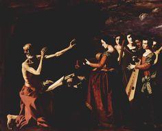 The temptation of St. Jerome by Francisco de Zurbaran Baroque Painting, Baroque Art, Spanish Christian Music, Christian Art, Caravaggio, Renoir, Francisco Zurbaran, St Jerome, Religious Paintings