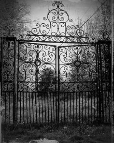 Old cemetery entrance gate
