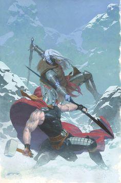 Thor: God of Thunder #16 - Thor vs Malekith the Accursed by Esad Ribic