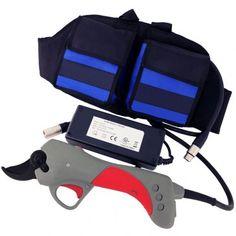 Tijeras eléctricas de podar que permiten efectuar cortes de hasta 30mm. Tijeras eléctricas para podar viñas, olivos, naranjos, frutales, etc...