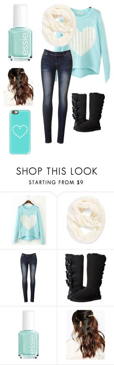 """""""Untitled #298"""" by banana679 ❤ liked on Polyvore featuring Echo, UGG Australia, Essie, Suzywan DELUXE, Casetify, women's clothing, women's fashion, women, female and woman"""