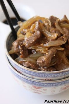 Beef Recipe with Chinese Onions: The Easy Recipe - Recette de cuisine - Asian Recipes Easy Chicken Recipes, Meat Recipes, Asian Recipes, Cooking Recipes, Chinese Recipes, Dairy Recipes, Cabbage Recipes, Meatloaf Recipes, Meatball Recipes