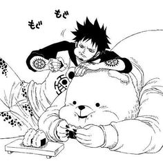 Bepo and Trafalgar Law