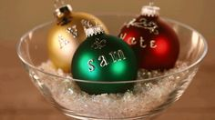 Personalized ornaments make great Christmas gifts or crafts to share with the kids. Learn how to make your own!/