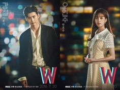 Light and Dark are the Contrasting Drama Posters of Lee Jong Seok and Han Hyo Joo in W: Two Worlds | A Koala's Playground