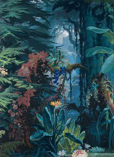 clawmarks: L'Eden - Papier peint panoramique - Joseph Fuchs, Manufacture Desfosse - 1861 - via Musée des Arts décoratifs