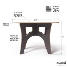 Sprout Modern Kids Table Defined
