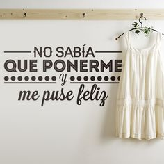 Removable Vinyl Wall Sticker Quote NO SABIA QUE <font><b>PONERME</b></font> Wall art mural decals for bedroom house decoration