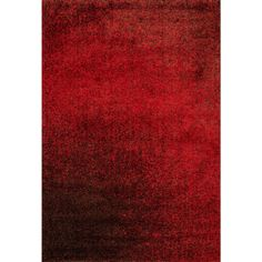 alexander home cantebury red and brown shag rug cantebury red brown
