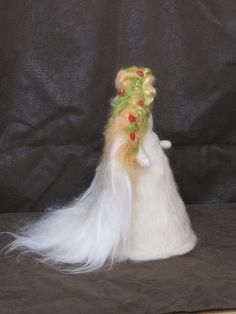 Angel - Xmas tree topper. Needle-felted wool soft sculpture by Katya's home, via Flickr