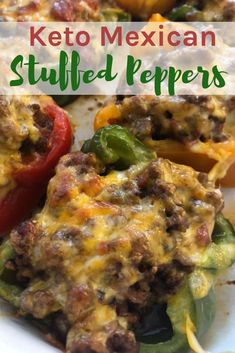 This Keto Mexican Stuffed Peppers recipe is sure to become a family favorite in your home! It's simple, delicious, and keto-friendly. More from my site Slow cooker Mexican Stuffed Peppers WW 7 pt Easy Keto Mexican Stuffed Peppers PALEO Healthy Diet Recipes, Ketogenic Recipes, Mexican Food Recipes, Low Carb Recipes, Beef Recipes, Ketogenic Diet, Recipes Dinner, Keto Snacks, Lunch Recipes