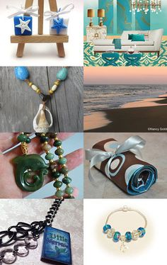 My travel makeup roll is featured here - Under the Sea: the Treasures you will find! [8] by Erinn LaMattery on Etsy--Pinned with TreasuryPin.com #travel #roll #makeup #cosmetics #toiletries #artsupplies #jewelry #jewelryroll #makeuproll #travelaccessories #women #girls #womensfashion #womenswear #womensaccessories #uniquegifts #handmade #handmadegifts #polkadots #brown #teal #white