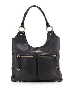 Dylan+Front-Pocket+Leather+Tote+Bag,+Black+by+Linea+Pelle+at+Neiman+Marcus.