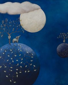 felixinclusis:  cjonie: Mariann Johansen-Ellis - Conversations with the Moon Paintings