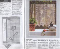 crochet knitting handicraft cortinas