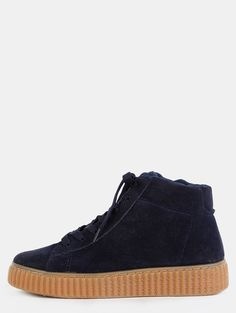 Online shopping for Hi-Top Faux Suede Gum Sole Sneakers NAVY from a great selection of women's fashion clothing & more at MakeMeChic.COM.