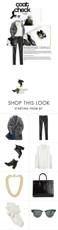 """""""Wardrobe Staple: Leather Pants"""" by allva ❤ liked on Polyvore featuring Superdry, Monki, Michael Kors, Yves Saint Laurent, John Lewis, Ray-Ban and River Island"""
