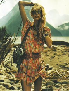 Printed dress #Bohemian: LOVE this. WILL Make It