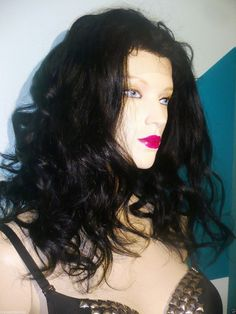 Jet Black 1 Full Lace Wig 100% Human Hair Indian by BizarreJewels