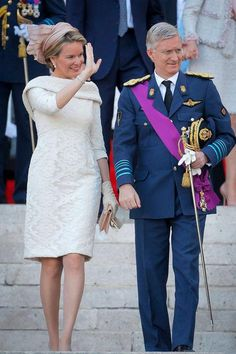 Queen Mathilde leads the rest of the Belgian royal family as the best dressed of all