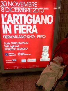 #artigianoinfiera si ama sin da piccoli :) Che tenero fagottino!