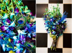 Peacock bouquet // Image by Cory Ryan Photography // Via Modernly Wed
