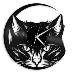 Cat Vinyl Wall Clock