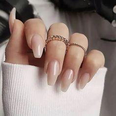 Classy Nails, Stylish Nails, Cute Nails, Pretty Nails, Classy Almond Nails, Orange Ombre Nails, Pink Nails, Glitter Ombre Nails, Ombre Nail Designs