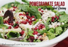 This is the PERFECT salad to take to your holiday parties this year! It's delicious and healthy and so festive! #holiday #salad #healthy #festive #pomegranate #recipe