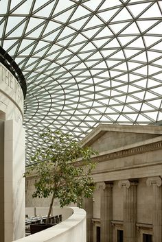 A shot of the Great Court roof designed by Norman Foster