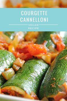 Courgette Cannelloni | Vegan, gluten-free