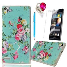 MOLLYCOOCLE Fashion Style transparent Painted PC Cover Green Skin Phone Back Cover with Countryside Flower Pattern for Huawei P6+1x Stylus Pen+1x Dust Plug+1x Screen Protector MOLLYCOOCLE http://www.amazon.com/dp/B00OH3FH8Q/ref=cm_sw_r_pi_dp_xFVpvb0410PTX