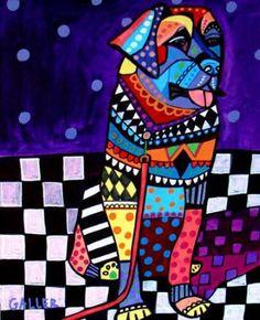 Leonberger Art Poster Print of painting by Heather Galler Art Modern Dog Pop Art