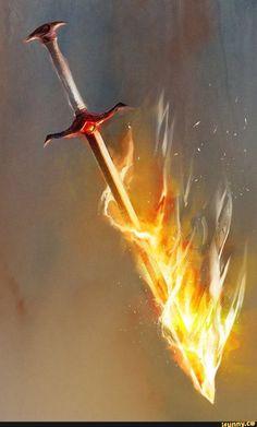 Firebrand by cobaltplasma on DeviantArt Fantasy Sword, Fantasy Weapons, Fantasy Rpg, Blur Background In Photoshop, Photo Background Images, Espada Anime, Sword Of The Spirit, Prophetic Art, Anime Weapons