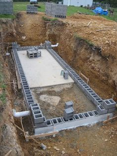 Building our root-cellar was easy! (Ha ha) Just follow these simple steps:  1) Dig a hole. Our hole was 10 feet deep, 30 feet long, and 15 f...