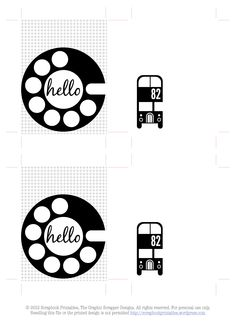 Free journal card printables (but wouldn't the rotary phone dial make an adorable cut file?)