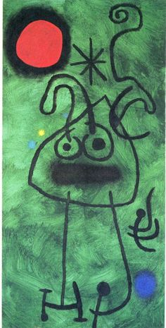 Joan Miró (April 1893 – December was a Spanish painter, sculptor, and ceramicist born in Barcelona. Wassily Kandinsky, Magritte Paintings, Joan Miro Paintings, Famous Abstract Artists, Famous Artists, Spanish Painters, Spanish Artists, Joan Miro Pinturas, Mid Century Art