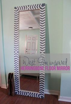 diy west elm inspired floor mirror, diy, home decor, how to, painted furniture, woodworking projects, And it looks just as good as the designer version