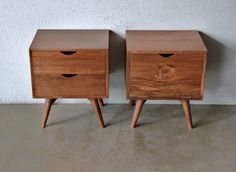 SECOND CHARM FURNITURE: LATEST COLLECTIONS OF MIDCENTURY INSPIRED BED SIDE CABINETS / NIGHT STANDS | Ashley Furniture - 45L 35D 50H cm :: $400 each
