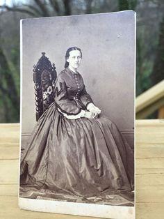 Antique CDV Photo 1800s Civil War era Pretty Woman Easton Pennsylvania by Tyler.  | eBay